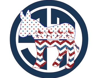 Democrat Donkey Applique Embroidery Design READY TO SEW
