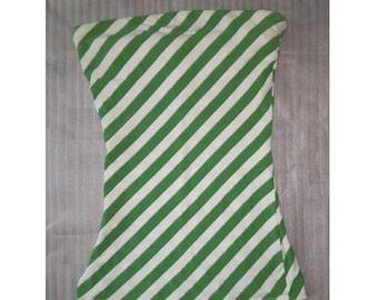 Striped top, 90s, pin up top, green top, top de rayas verde palabra de honor
