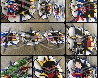 Baby Super Heroes Banner