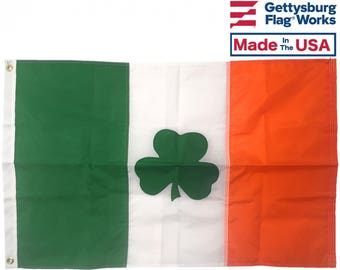Irish Shamrock Flag - All Weather Nylon - Made in the USA!