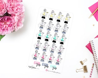 Work Out Time   Addie Collection   Planner Stickers  