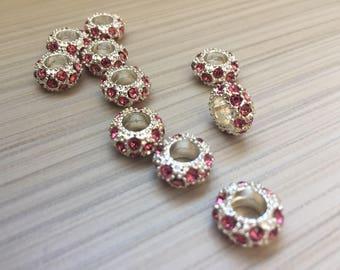 Rhinestone beads Europeen style