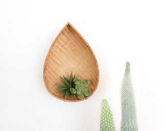 Wall Basket Bowl Airplant Holder Woven Rattan Basket Giant Boho Home Decor
