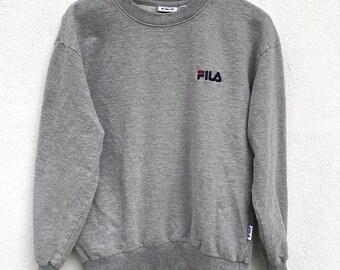 20% Off Fila Sweatshirt Vintage Fila Sweater Sweatshirt Spell Out Fila Big Logo Longsleeve Fila Italia Swag Hip Hop kids size