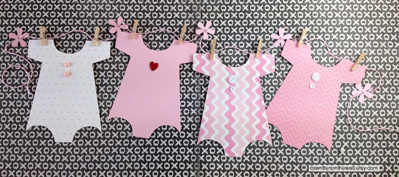 Kit baby shower banner onesie
