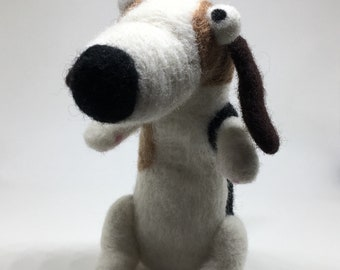 Needle felted dog/ beagle soft sculpture