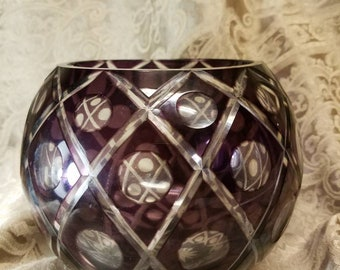 Crystal Amythest Bowl