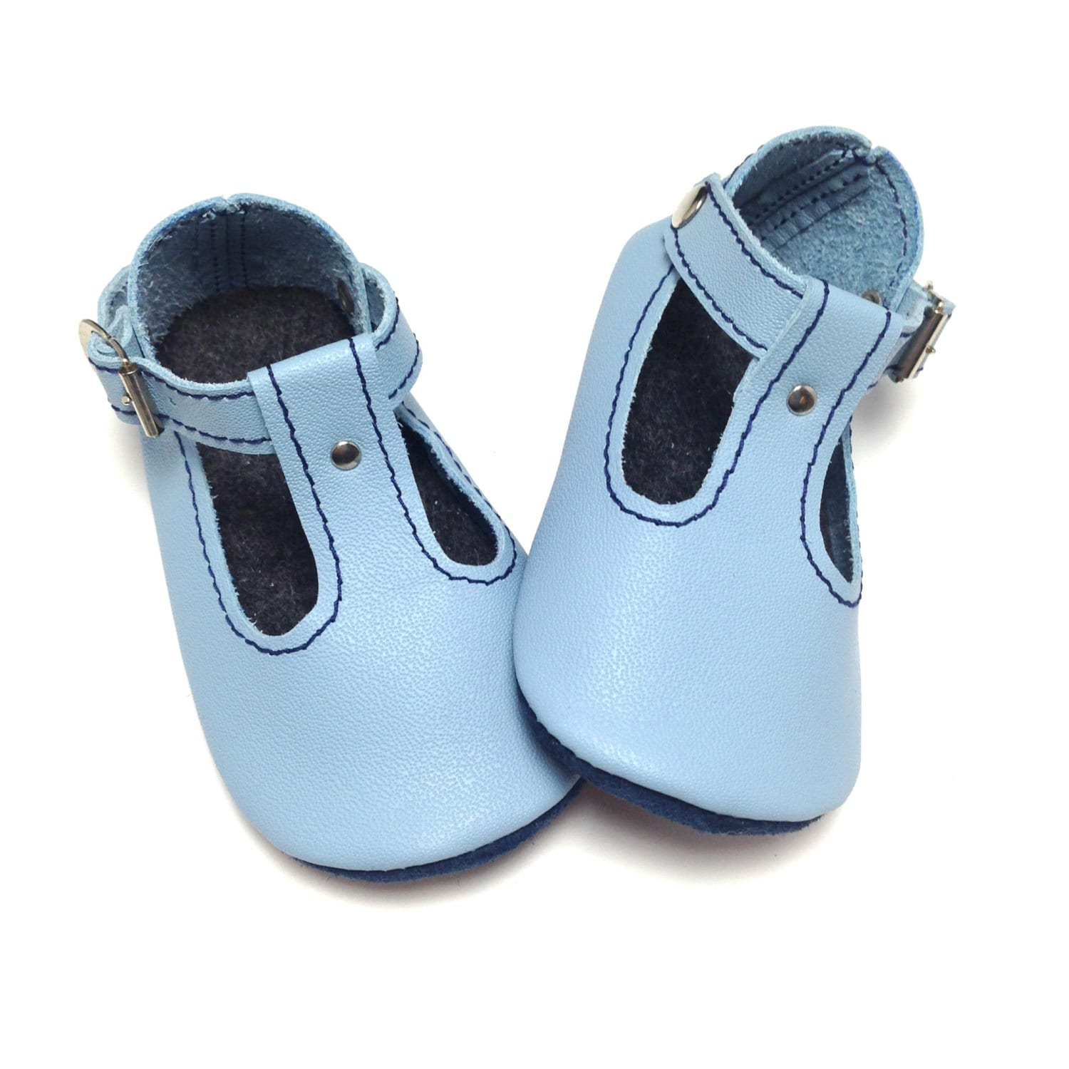 Handmade soft soled leather baby shoes T bar sandals Baby