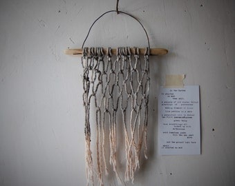 OMBRE MACRAME hand dyed wall hanging