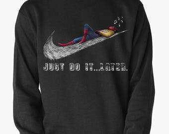 Spider-Man Just Do It Later Sweatshirt Tom Holland Homecoming Sweat, Men's Women's All Sizes