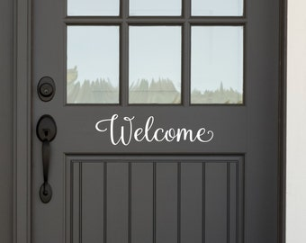 Welcome Door Decal - Door Decals - Housewarming Gifts - Business Decor