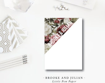 Brooke and Julian Design | Modern Floral Stationery | Printed Darby Cards Collective