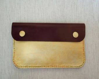 Wallet with Texture Yellow Leather