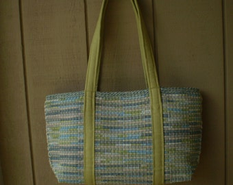 Large Tote / Lime Green Straps