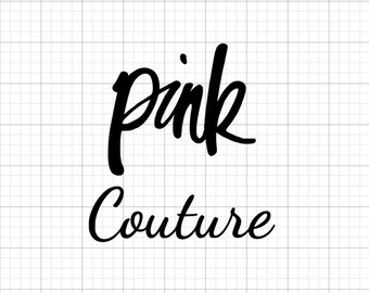 Pink Couture - Iron On Vinyl Decal Heat Transfer