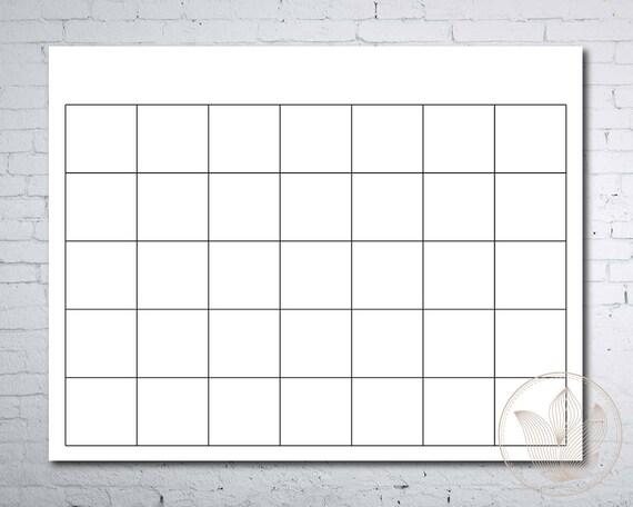 Blank Calendar Printable Page Ready To Print Calendar