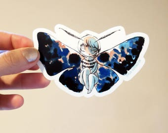 Vinyl Sticker - Moth Girl - bittersweet entomology