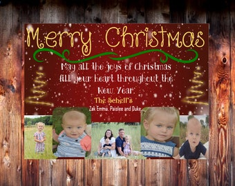 Christmas Joy Card with Multiple Pictures