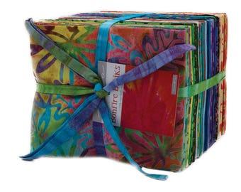 Moda BONFIRE BATIKS 40 Fat Quarter Bundle 4346AB Quilt Fabric
