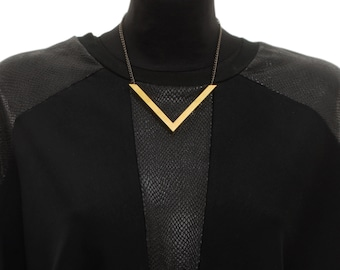 V Necklace, Bib Necklace, Statement Necklace, Gold Necklace, Necklaces For Women, NB007