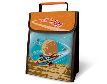 Travel to Mars Insulated Lunch Sack
