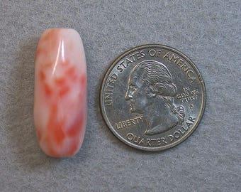 Vintage Pink ANGEL SKIN CORAL Barrel Bead, 27x13mm 5.8 grams cor11