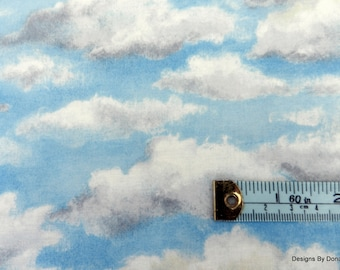 """One Fat Quarter Cut Quilt Fabric, Storm Clouds Forming, Blue Sky """"Running Wild"""", Westhills Designs, River Woods, Sewing-Quilting Supplies"""