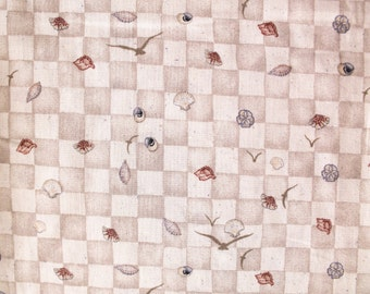 """Cotton """"By The Sea"""" Shell/Seashore/Nautical/Seashell Quilting Fabric- By the Yard"""