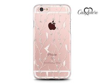 iPhone X case, iPhone 8 case, iPhone 6 case, iPhone 7 case, iPhone 6s, iPhone 7 Plus case, Galaxy S8 case, Galaxy S7 Edge, Birds on Branches