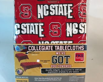 "North Carolina State Table Cloth-52""X 52""-NC State Card Table Cover-Brand New-NCAA Table Cloths-for over 30 Schools"