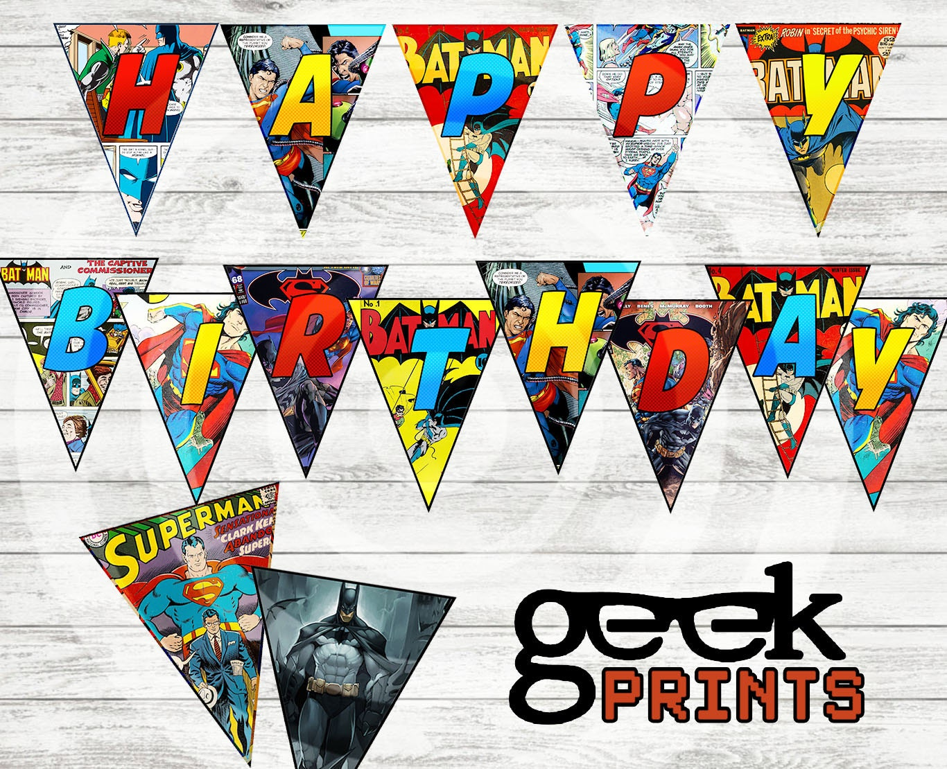 Happy birthday banner batman vs superman comic book themed zoom jeuxipadfo Image collections