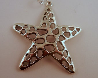 Starfish Pendant Pewter Silver