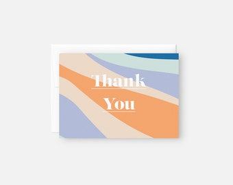 Modern Thank You Note Set / Bridal Shower Thank You Note / Baby Shower Thank You Note / Thank You Card Pack / Thank You Cards Bulk