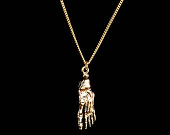 Skeletal Foot Necklace - Select Your Finish!