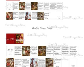 Little Red Riding Hood - Vintage Fairy Tale Book with Pages, 1:12 scale, printable, DOWNLOAD