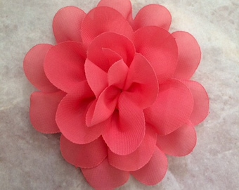 CLEARANCE Chiffon flower, coral flower, large flower, coral, flower, lace flower, flower puff, flower supplies, DIY supplies,