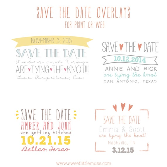 Save The Date Overlays Save The Date Template Overlays Psd