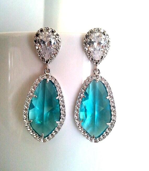Post Wedding Gifts: Items Similar To Blue Zircon Post Wedding Earrings
