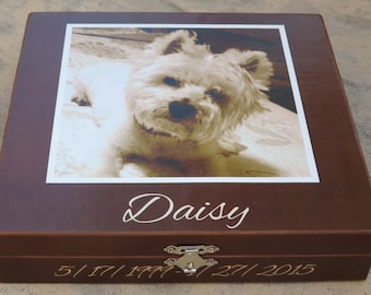 Pet Memorial Keepsake Box, Personalized Photo Keepsake Box, Unique Dog Memorial, Custom Cat Memorial, Pet Urn, Pet Gift Memory Box