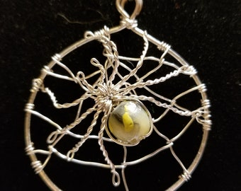 Large Spider and Web Pendant