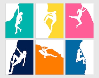 Rock Climbing Prints, Gift for Rock Climber, Rock Climbing Decor