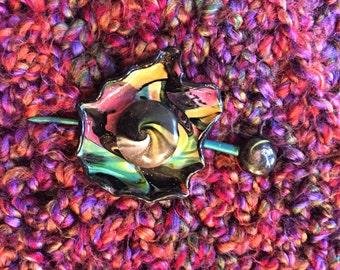 Rainbow Shawl Pin
