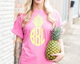 Pineapple Monogram Comfort Color T-Shirt