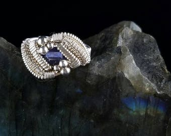 Size 5.5 - Iolite wire wrapped ring