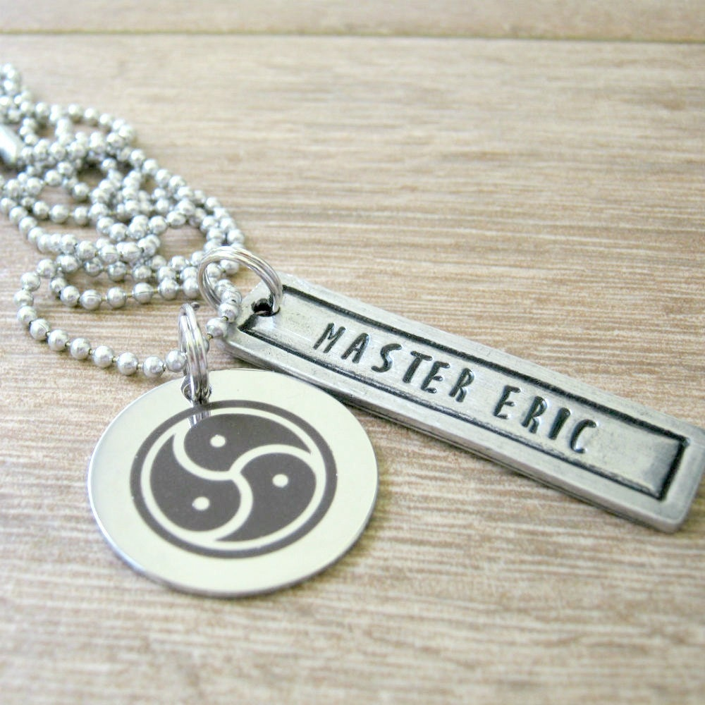 Personalized bdsm master necklace bdsm symbol necklace zoom biocorpaavc Gallery