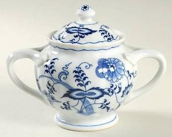 Blue Danube Blue Onion Sugar Bowl and Lid
