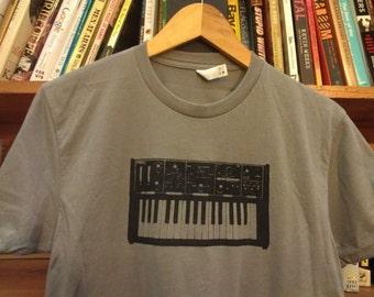 Moog Keyboard Synthesizer Screen Printed T-Shirt
