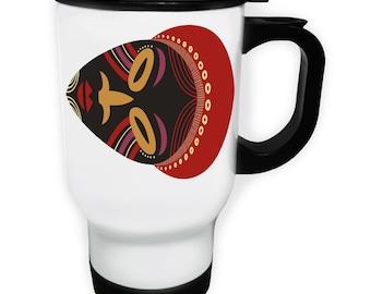 African masks ethnic Stainless S Travel 14oz Mug i797t