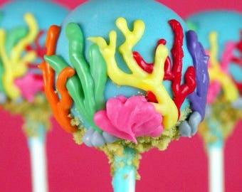 Coral Cake Pops
