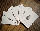 5-Notecard Set: Black Bir...